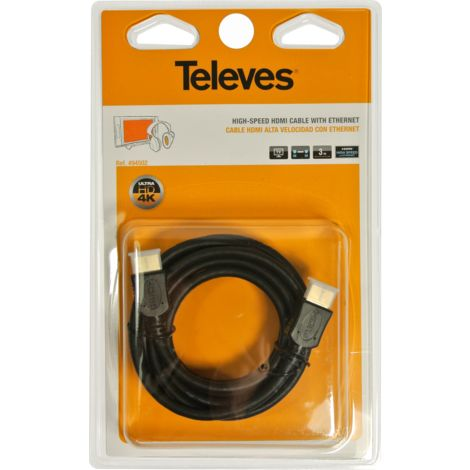 CABLE HDMI M/HDMI 3m TELEVES 494502