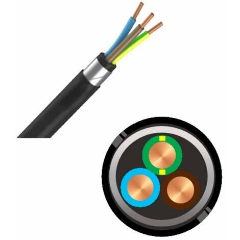 Câble industriel armes RVFV 3G6 - au mètre