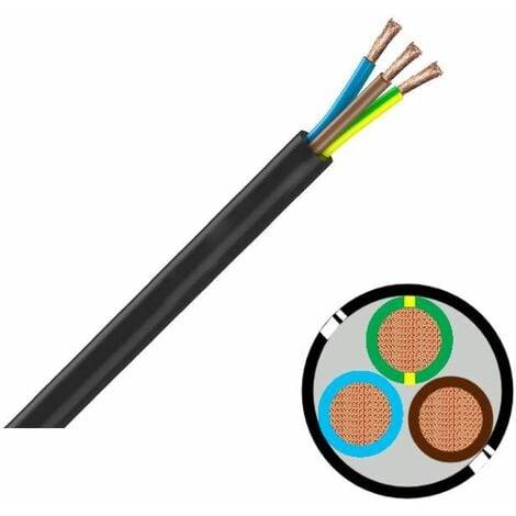 Câble industriel souples HO7RNF 3G16 - vendu au mètre