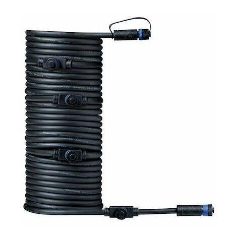 Câble intelligent connection Plug & Shine - 150W max - 24V - 5 raccords - 10m - Noir