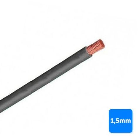 Cable libre de halógenos 1,5mm gris POR METROS H07Z1-K AS 750V
