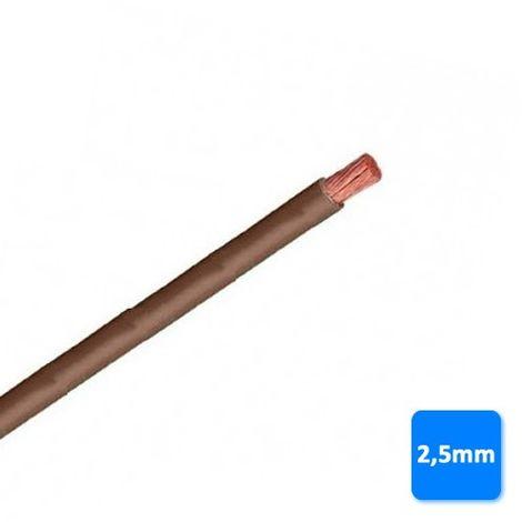 Cable libre de halógenos 2,5mm marrón POR METROS H07Z1-K AS 750V
