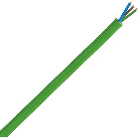 Cable Manguera 3 x 1.5mm² Libre Halógenos Verde - Unidad de medida: 1m