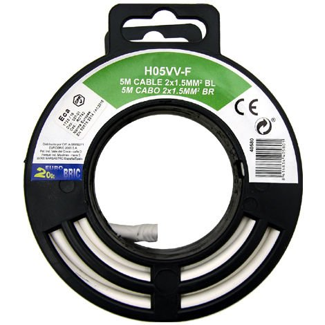 Cable manguera redonda H05VV-F 2x1,5