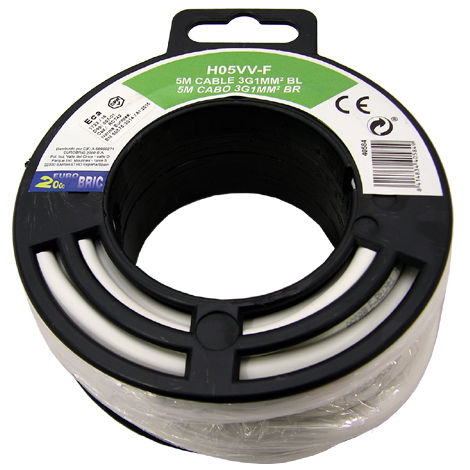 Cable manguera redonda H05VV-F 3G1