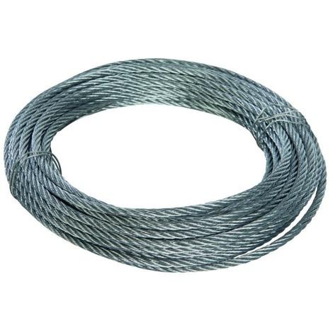 Câble métallique galvanisé 6 mm x 10 m