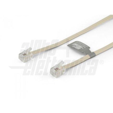 Câble modulaire rj11 6p4c câble modulaire rj11 6p4c - noir - 2,1m 94-780n