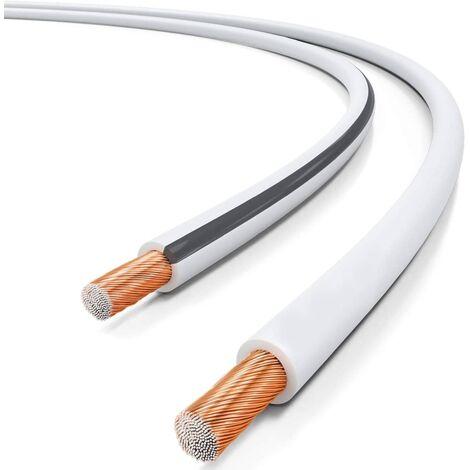 Cable para altavoz 2x 2.5 mm 100 M Blanco
