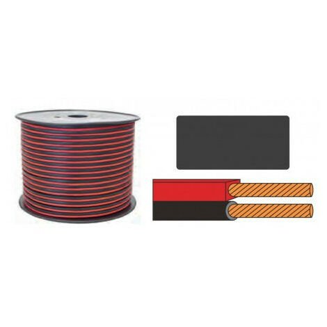 """main image of """"Cable Paralelo 2x0,50mm CCA ROJO/NEGRO (100m)"""""""