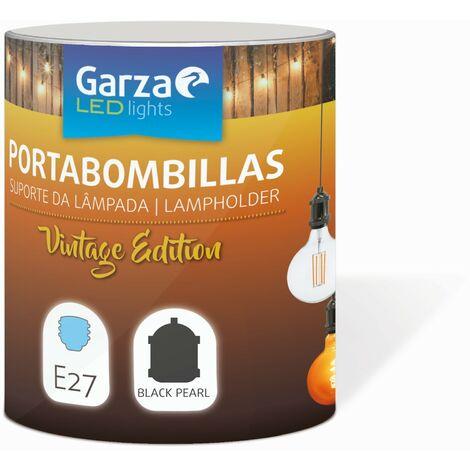 Cable pendant portabombillas Vintage Black Pearl, cable textil, casquillo E27 cable textil 1metro