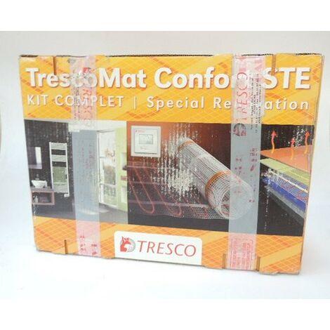 """main image of """"Câble plancher chauffant electrique 1100W trame 0.5x18,3m (9.2m²) avec thermostat et sonde support béton MAT-1100 TRESCO 48242"""""""