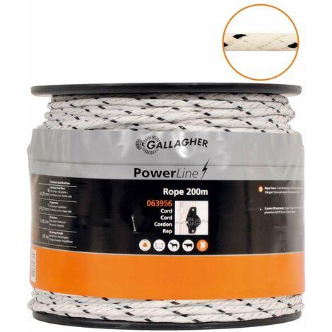 Câble Powerline pour clôtures électriques professionnelles diamètre 5mm avec 5 conducteurs en acier inoxydable de 0.16mm et 1 cuivre de 0.25mm Gallagher