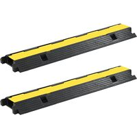 Cable Protector Ramps 2 pcs 1 Channel Rubber 100 cm