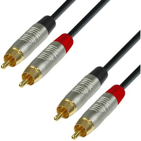 Cable RCA 2 Machos A 2 RCA Machos 1,5m K4 REAN