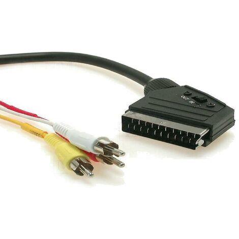 Cable RCAx3 Prise Peritel -SCART- 2m ADNAuto