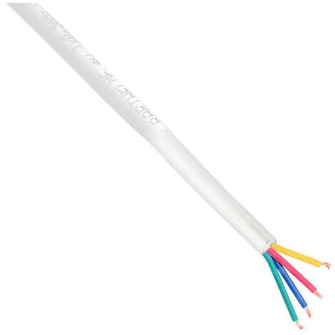 Cable redondo de conexión para tiras LED RGB 4x0,50mm - 1 metro