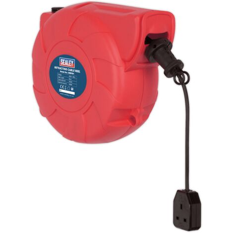 Sealey CRM151 Cable Reel System Retractable 15m 1 x 230V Socket