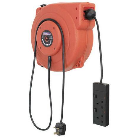 Sealey CRM15 15mtr Retractable Cable Reel 230V