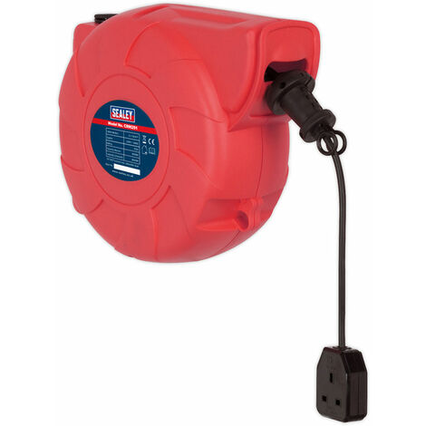 Sealey CRM251 Cable Reel System Retractable 25mtr 1 x 230V Socket