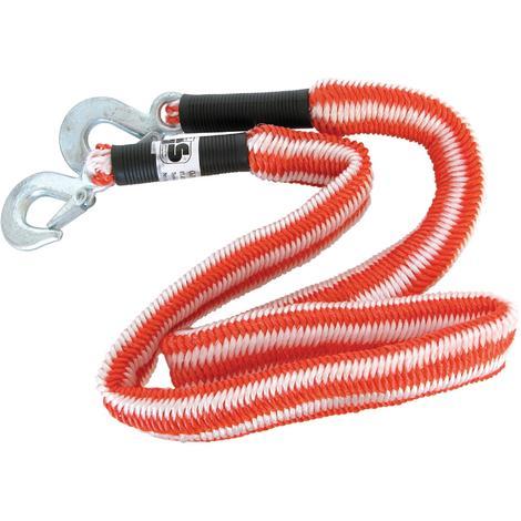 Cable remorquage elastique 2800kg 1.5-4m