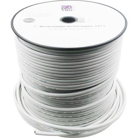 "main image of ""Câble réseau CAT 6 SF/UTP TRU COMPONENTS CAT 5e/CCA 1567362 8 x 2 x 0.196 mm² blanc 100 m"""