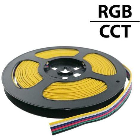 Cable RGB+CCT conector para iluminación LED RGB+CCT 12-24V