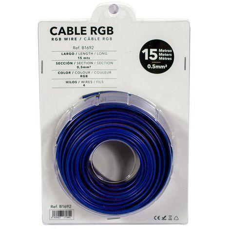 Cable RGB de 4 hilos para instalaciones a 12-24V - Rollo de 15 metros