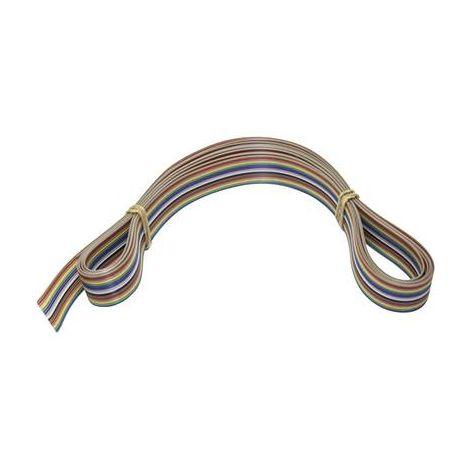 Câble ruban multicolore Velleman FC16C-3/SP pour K8200 ; 3 m