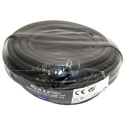 Cable RV-K 0,6/1 5G1,5mm² negro