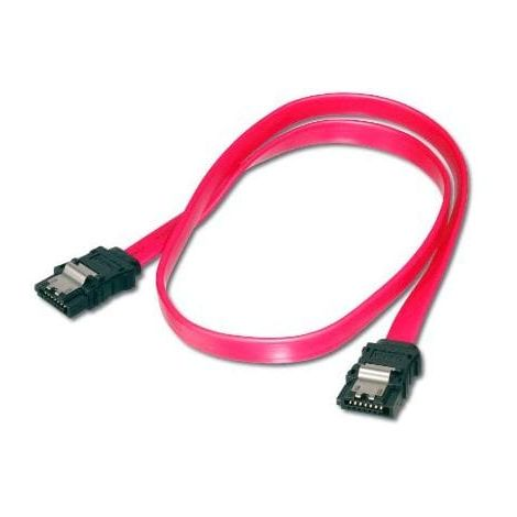 Cable sata con anclajes 0.50 M Rojo