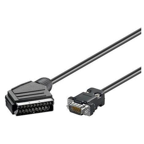 Cablepelado/® Cable euroconector-Scart M-M 1.5 M Negro