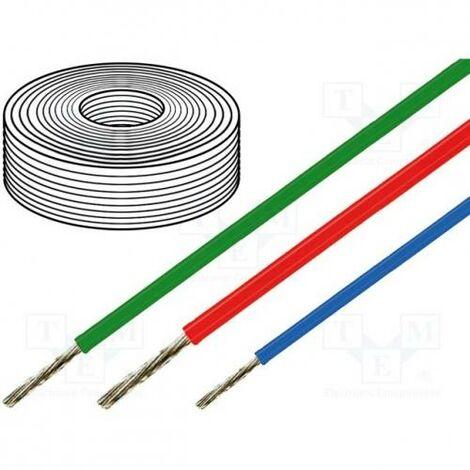 Cable Silicona 1mm 500V Color ROJO