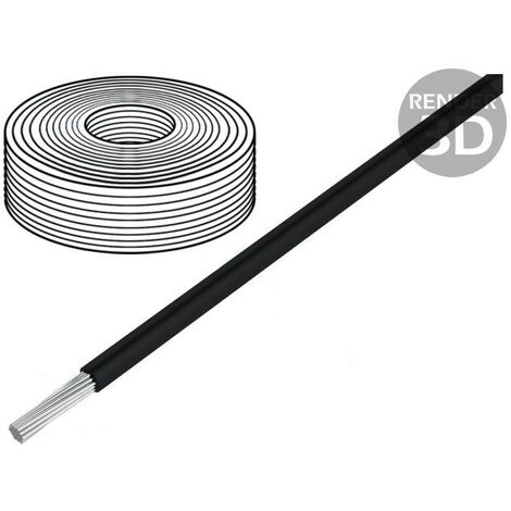 Cable Silicona 2,5mm 500v Negro