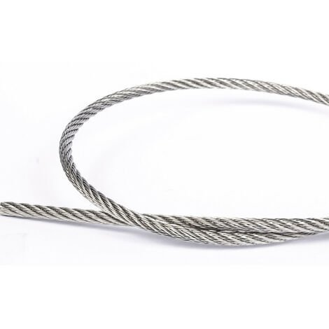 Rouleau de 100M Cable 2mm inox 316 49 Fils inox A4