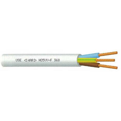 "main image of ""Câble souple blanc - 3G2,5 mm² - ( Prix au mètre )"""