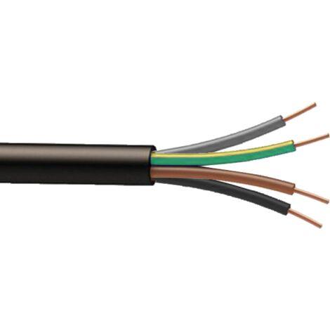 Cable souple H07RNF 4G6mm² à la coupe (minimum 10m)