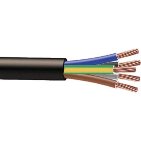 Cable souple H07RNF 5G1.5mm² à la coupe (minimum 10m)
