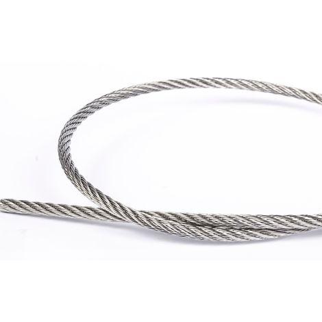 Câble souple inox A4 marine 7x7 au mètre linéaire