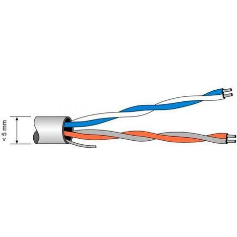 Cable telefónico 4 hilos POR METROS Televes 217101