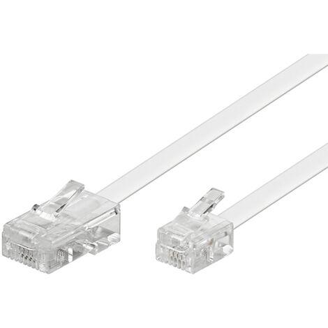 Cable telefonico RJ11 a RJ45 3 M Blanco