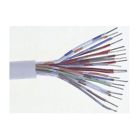 Câble téléphonique, 3 paires, Gaine Polyoléfine, Orange, C 100m