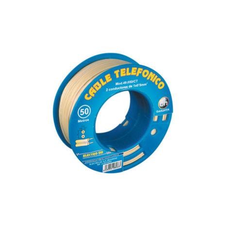 Câble téléphonique dévidoir de tuyau plat 250 m Electro Dh Electro Dh 49.050/CR 843055202094868
