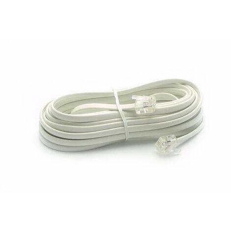 Câble téléphonique RJ11 mâle/mâle 5 m