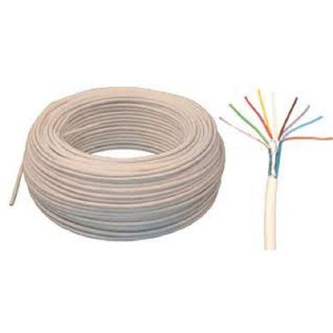 Câble téléphonique ivoire ADSL série 298-4 paires à la coupe