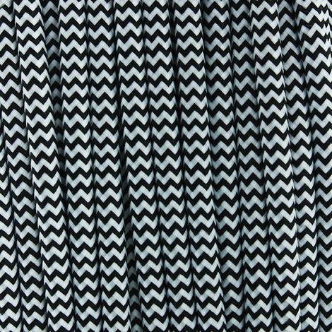Cable Textil Negro/Blanco - 25 Metros