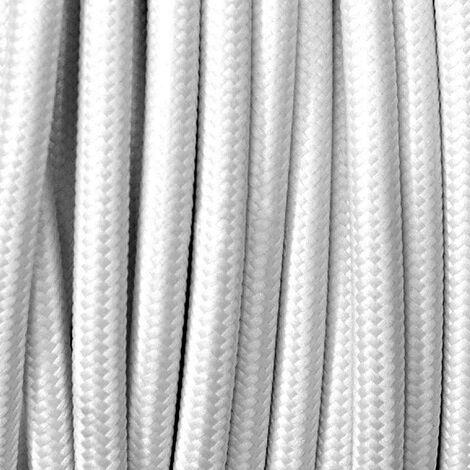 Cable textil redondo 2x0,75mm, 1m, blanco