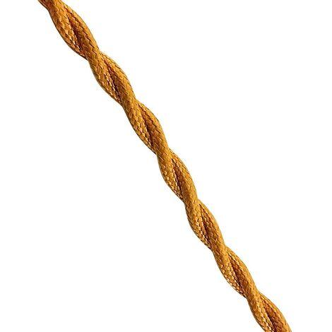 Cable textil trenzado 2x0.75 oro viejo