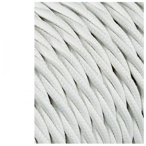 Cable Textil Trenzado 2X0.75Mm C-01 Aluminio Seda 25 Metros (Precio por Metro) - NEOFERR