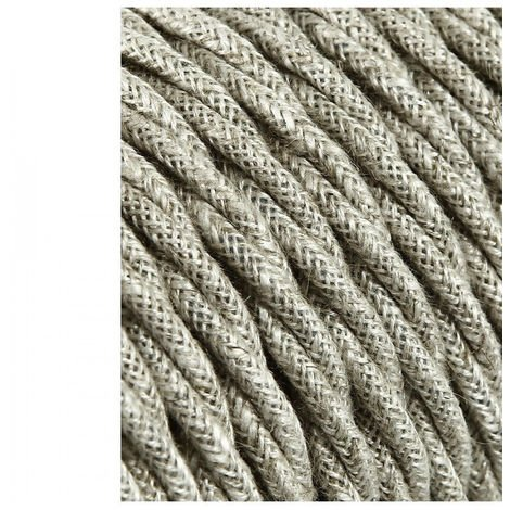 Cable Textil Trenzado 2X0.75Mm Lino 5M - NEOFERR