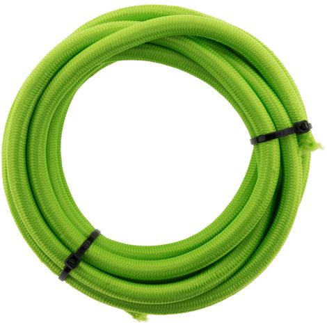 Câble textile 3G1 3m - couleur: Blanc, Noir, Gris, Bleu, Rouge, Violet, Vert, Rose et Blanc, Bleu et Blanc, Noir et Blanc